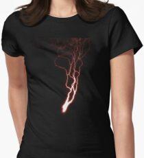 Lightning Womens Fitted T-Shirt