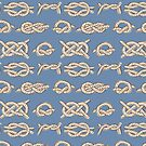 Nautical Knots Pattern Blue  by kellie-jayne