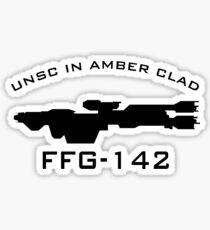 Halo | UNSC In Amber Clad Ship Profile Sticker