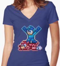 Rush Ride Women's Fitted V-Neck T-Shirt