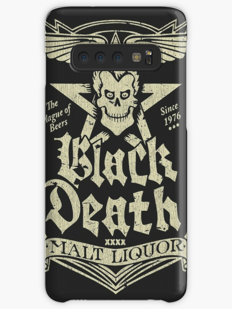 Black Death Malt Liquor Vintage Caseskin For Samsung Galaxy By Jacob Charles Dietz