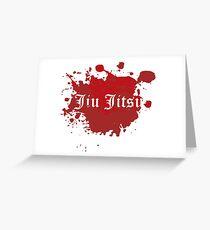 Jiu Jitsu - Blood Splatter in Old English Greeting Card