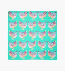 Colorful Chicken On Aqua Background Scarf