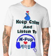 ♫Keep Calm & Listen to K-Pop♪ Men's Premium T-Shirt