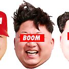 Kim Jong Boom Boom Boom (3 pack stickers) by Thelittlelord