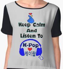 ♫Keep Calm & Listen to K-Pop♪ Chiffon Top