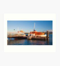 cacilheiro. tejo river boat. Art Print