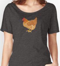Happy Golden Hen Women's Relaxed Fit T-Shirt