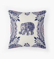 Pretty Pink Elephant  Throw Pillow