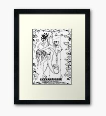Doctor Vultura's  Proportional Sky-fish Daughters Framed Print