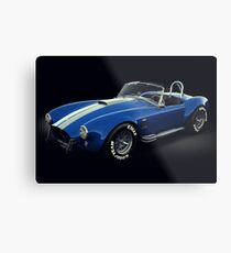 Shelby Cobra 427 Blue with White Stripe Metal Print