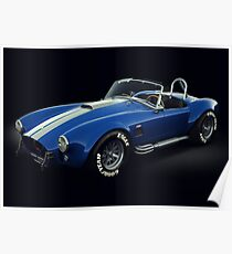 Shelby Cobra 427 Blue with White Stripe Poster