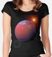 Space Women's Fitted Scoop T-Shirt
