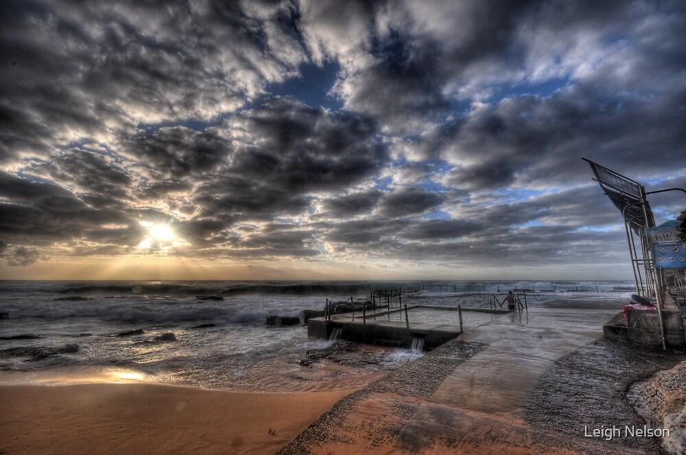 Avalon Rockpool Sunrise - Sydney, Australia. by Leigh Nelson