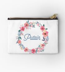 Putain - Beautiful French Swear Words - Blue  Studio Pouch
