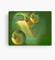 It is all about green Canvas Print