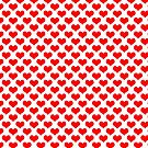 Fun Red Heart Pattern by ValeriesGallery