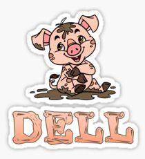 Dell Piggy Sticker