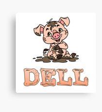 Dell Piggy Canvas Print