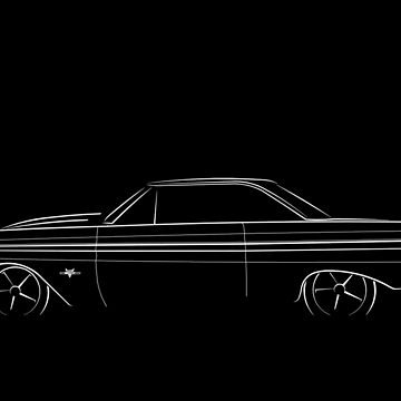 1965 Ford Falcon - profile stencil, white by mal-photography