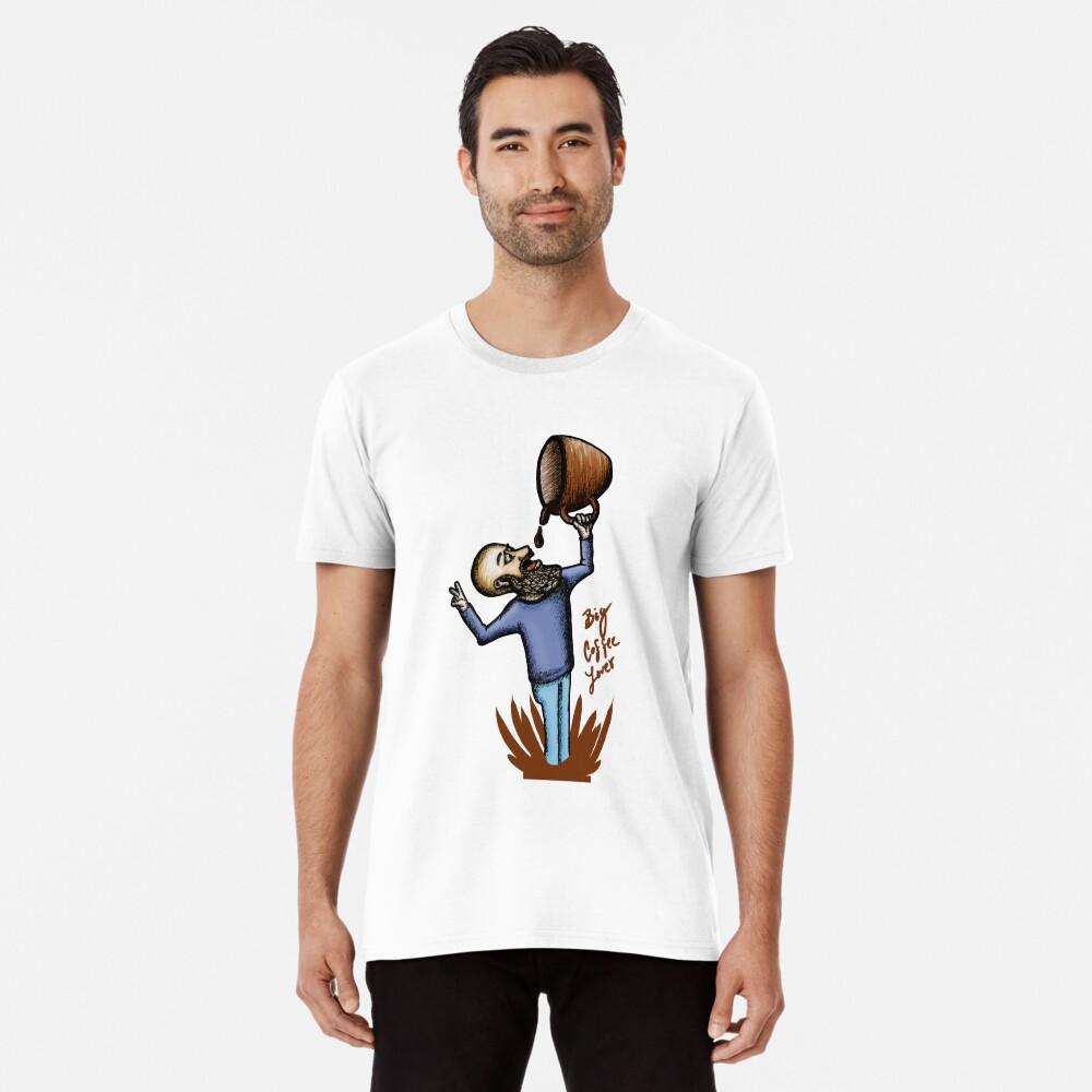 Big Coffee Lover Camiseta premium