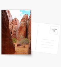 A courtyard in Arches National Park. Postcards