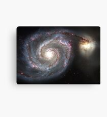 Spiral Galaxy Messier 51 Canvas Print