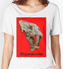 Megantereon fossil skull Women's Relaxed Fit T-Shirt