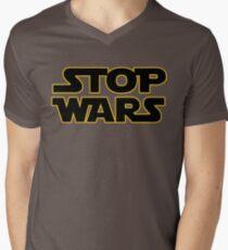 stop wars parody star wars peace Men's V-Neck T-Shirt