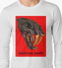 Smilodon fatalis, the Sabre Toothed Cat Long Sleeve T-Shirt