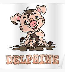 Delphine Piggy Poster