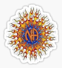 Narcotics Anonymous ~ Fiery Sun Sticker