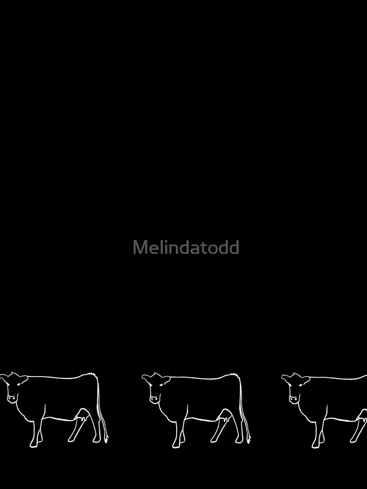 White Cow Silhouette  by Melindatodd