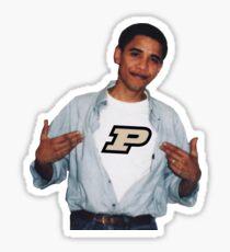 Obama Purdue Sticker