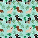 Dachshund summer monstera tropical pure breed dog gifts by PetFriendly