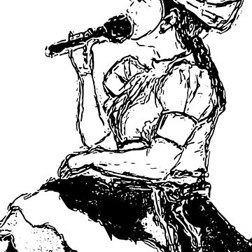 Black and White Cantante by FrenchToasty