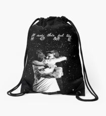 larry stylinson hug Drawstring Bag