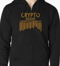 Cryptography Zipped Hoodie