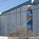 Grain Elevator Art in Mill City by AlteriorMotives