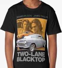 Two-Lane Blacktop Shirt - Retro Car Buff Movie Tribute Artwork Long T-Shirt