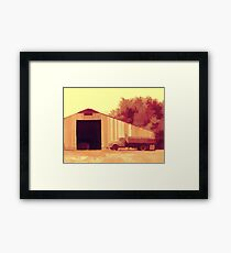 Rural Pop No 4 Old Truck and Big Barn Framed Print
