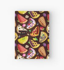 A variety of delicious fruit pies Hardcover Journal