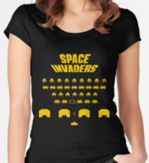 Space Invaders (Ready Player One, Halliday, Anorak) Women's Fitted Scoop T-Shirt