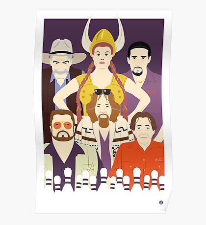 Around The Dude (Faces & Movies) Poster