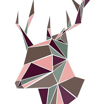 Triography deer by KWhaleBone
