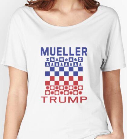 Mueller Chess Trump Checkers Women's Relaxed Fit T-Shirt