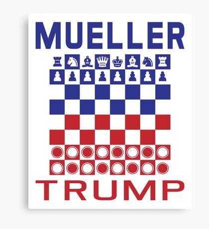 Mueller Chess Trump Checkers Canvas Print
