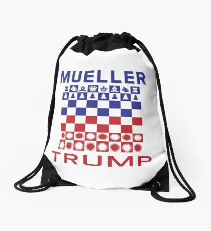 Mueller Chess Trump Checkers Drawstring Bag