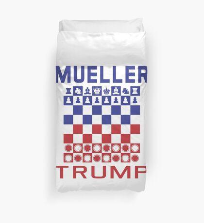 Mueller Chess Trump Checkers Duvet Cover