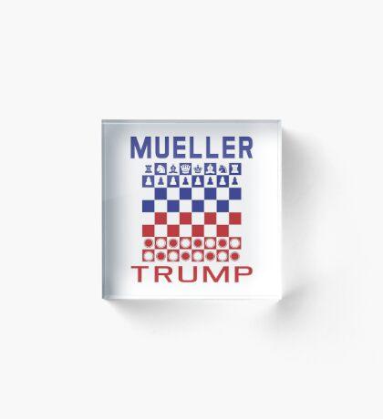 Mueller Chess Trump Checkers Acrylic Block